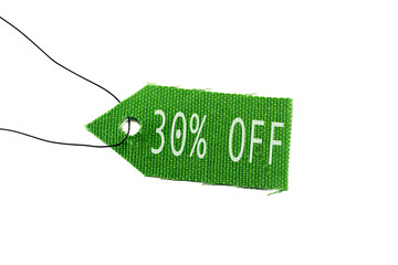 green tag 30% off