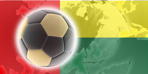 Flag of Guinea Bissau soccer