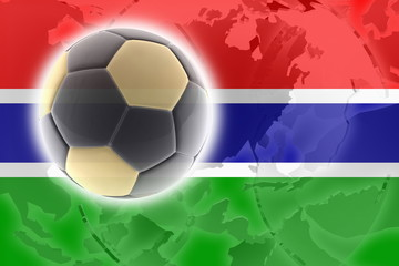 Flag of Gambia soccer