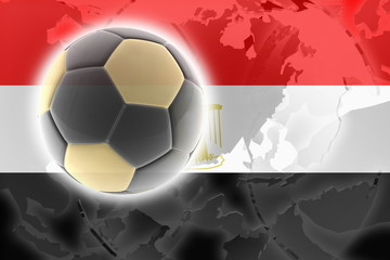Flag of Egypt soccer