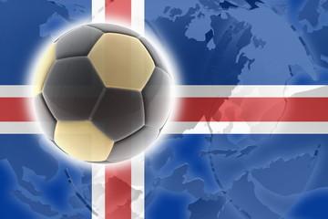 Flag of Iceland soccer