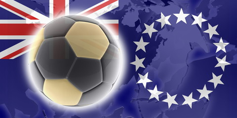 Flag o fCook Islands soccer