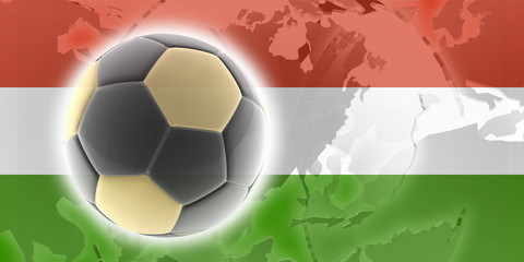 Flag of Hungary soccer