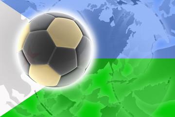 Flag of Djibouti soccer
