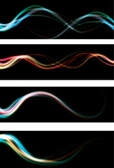 abstract light effect web banners. EPS10 with transparency