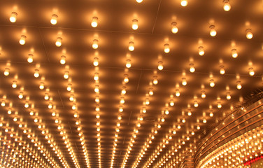 Beautiful theater lights brings joy to the patrons