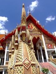 Buddhist temple in Bangkok, Thailand.