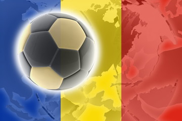 Flag of Romania soccer