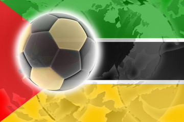 Flag of Mozambique soccer