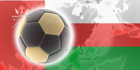 Flag of Oman soccer