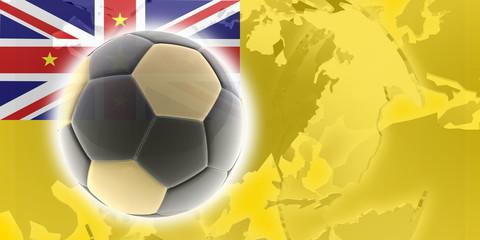 Flag of Niue soccer