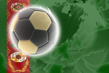 Flag of Turkmenistan soccer