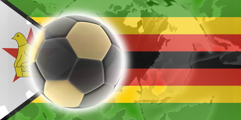 Flag of Zimbabwe soccer