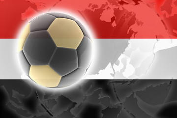 Flag of Yemen soccer