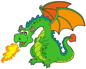 Cartoon fire dragon
