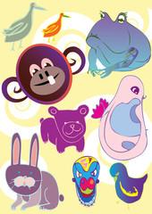 crazy hand drawn animals