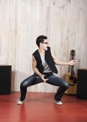 mouvement de chanteur en studio