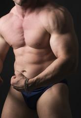 caucasian body builder torso