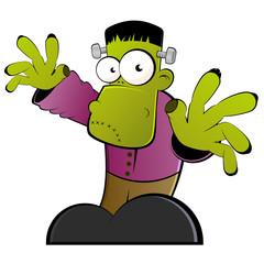 frankenstein cartoon monster halloween