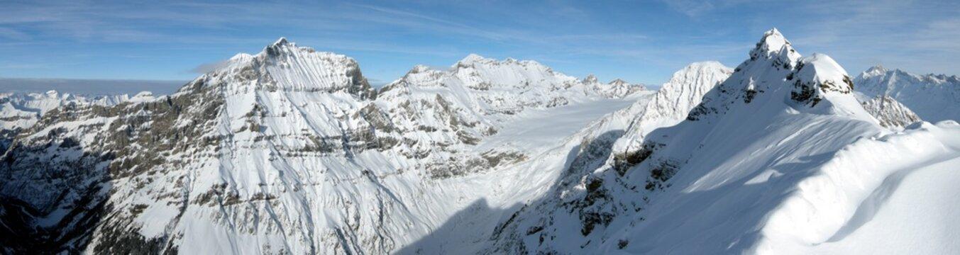 Top of a snow white glacier / Gletscher in den Alpen, Gipfel
