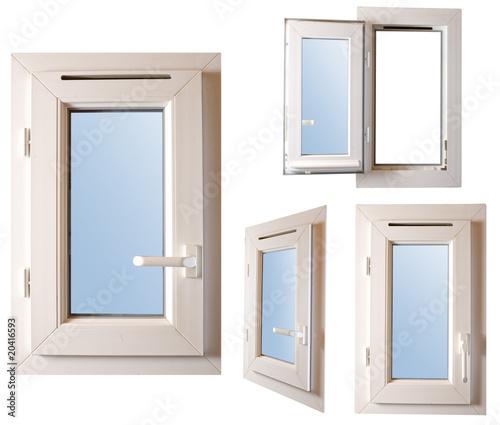 4 fen tre pvc blanches dont une est ouverte photo libre for Menuiserie pvc prix