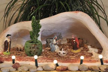 Crèche de Noël et santons