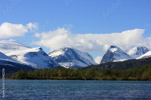 Fotomurales Arctic landscape near Kebnekaise