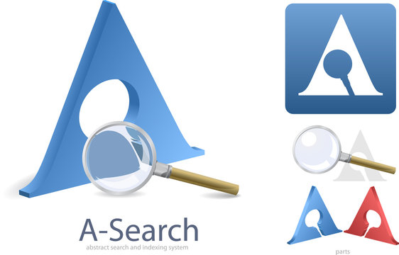 Logotype or symbol for abstract data searching