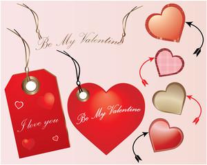 Valentines heart illustration - label-decoration