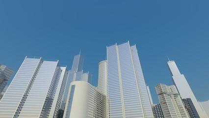 blue city line, skyline