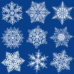 Nine Fabulous Original Snowflakes