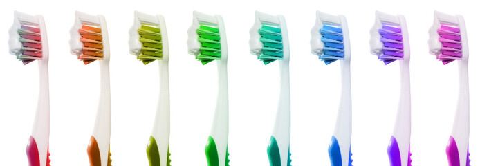 Isolated Toothbrush with paste
