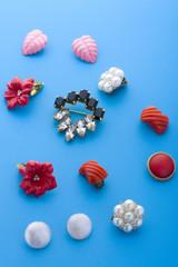 jewel brooch and earring macro