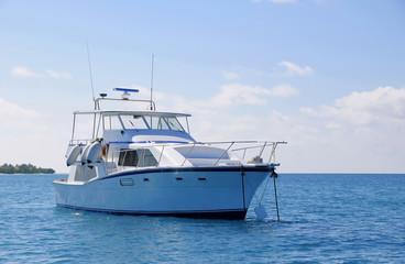 parking yacht at sea