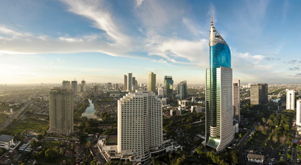 Photo sur Toile Indonésie Jakarta city panorama
