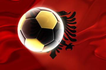 Flag of Albania,  wavy soccer