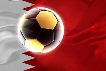 Flag of Bahrain wavy soccer