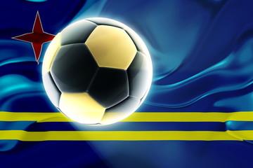 Aruba flag wavy soccer