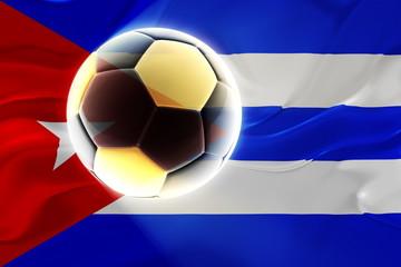 Cuba flag wavy soccer