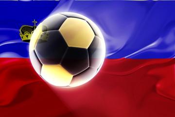 Flag of Lichenstein wavy soccer