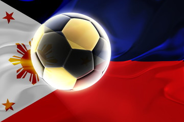 Flag of Philippines wavy soccer