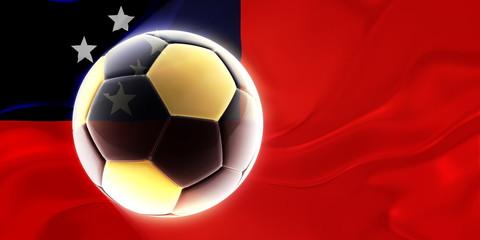 Flag of Samoa wavy soccer