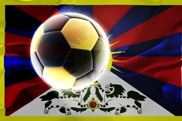 Tibet flag wavy soccer