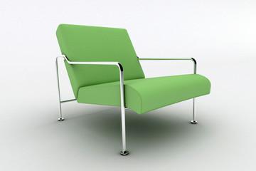 Modern green armchair