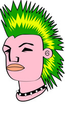 Green crest punk
