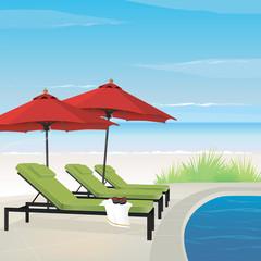 Relaxing Resort on Beach
