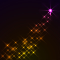 Abstract magic stars background. Eps10 file.
