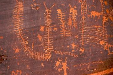 Centipede petroglyphs, Potash Scenic Byway, Moab