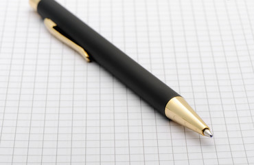 The pen on a paper in a cell