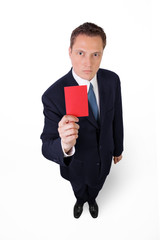 Verärgerter Chef zeigt rote Karte